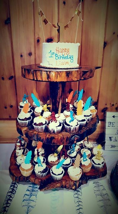 Pow wow first birthday Cowboys and Indians cupcakes!