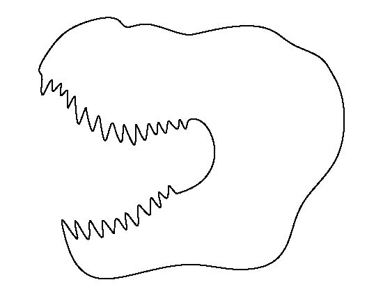 T Rex Head Pattern Use The Printable Outline For Crafts