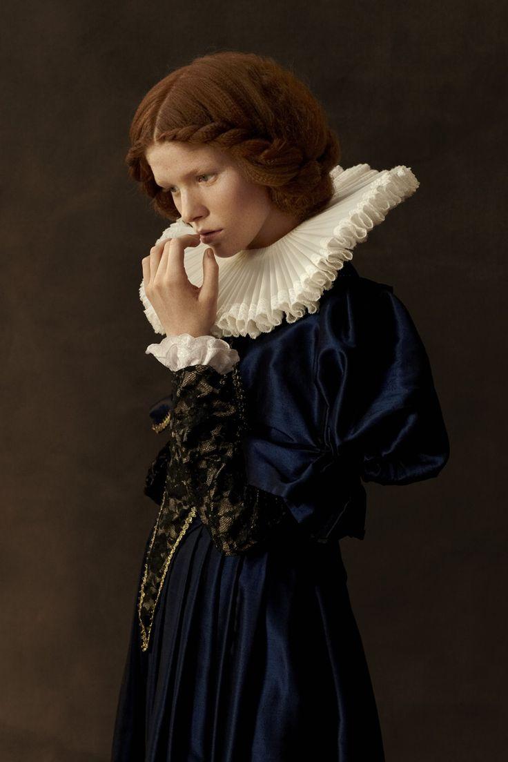 Photographer : Sacha Goldberger - portrait with animals - Flemish painting
