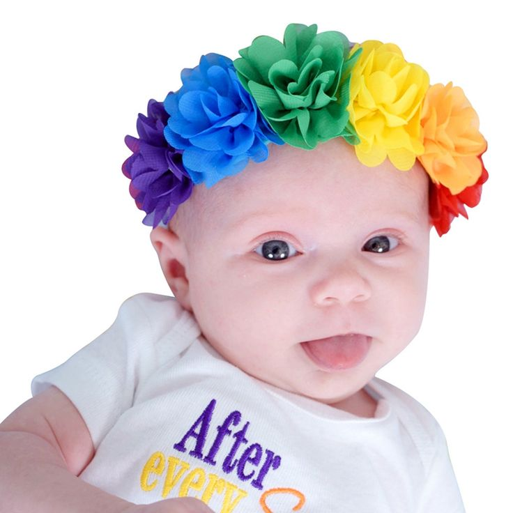 >> Click to Buy << Colorful Rianbow Flowers Elastic Chiffon Soft Garlands Hair Bands for Children Girls Headbands Headwear Hair Accessories #Affiliate