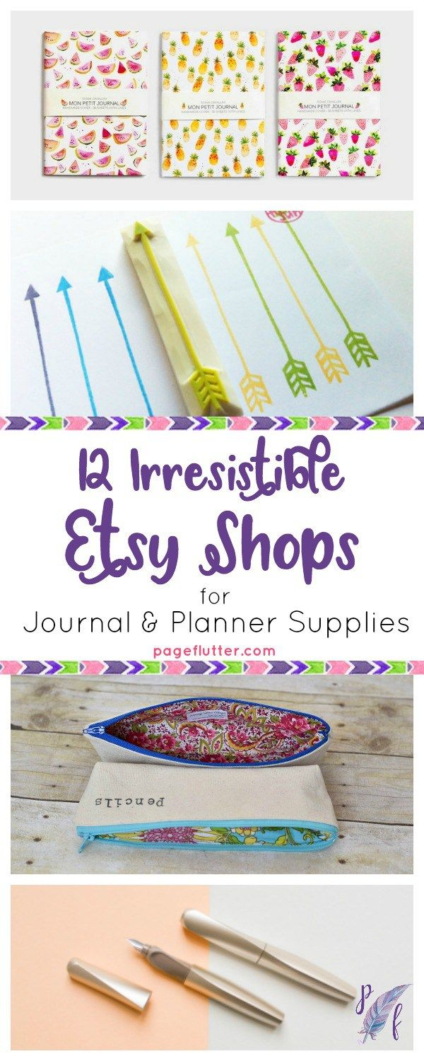 I know I'm not the only one who gets tired of what the big box stores have to offer. These journaling supplies as unique as you are. Take a peek at some of my favorite Etsy shops to brighten your planning routine!