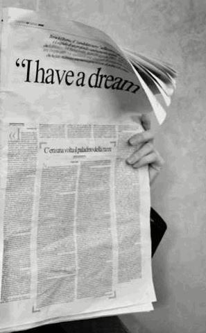 Today, 50 years ago, Dr Martin Luther King had a dream. What's your dream?