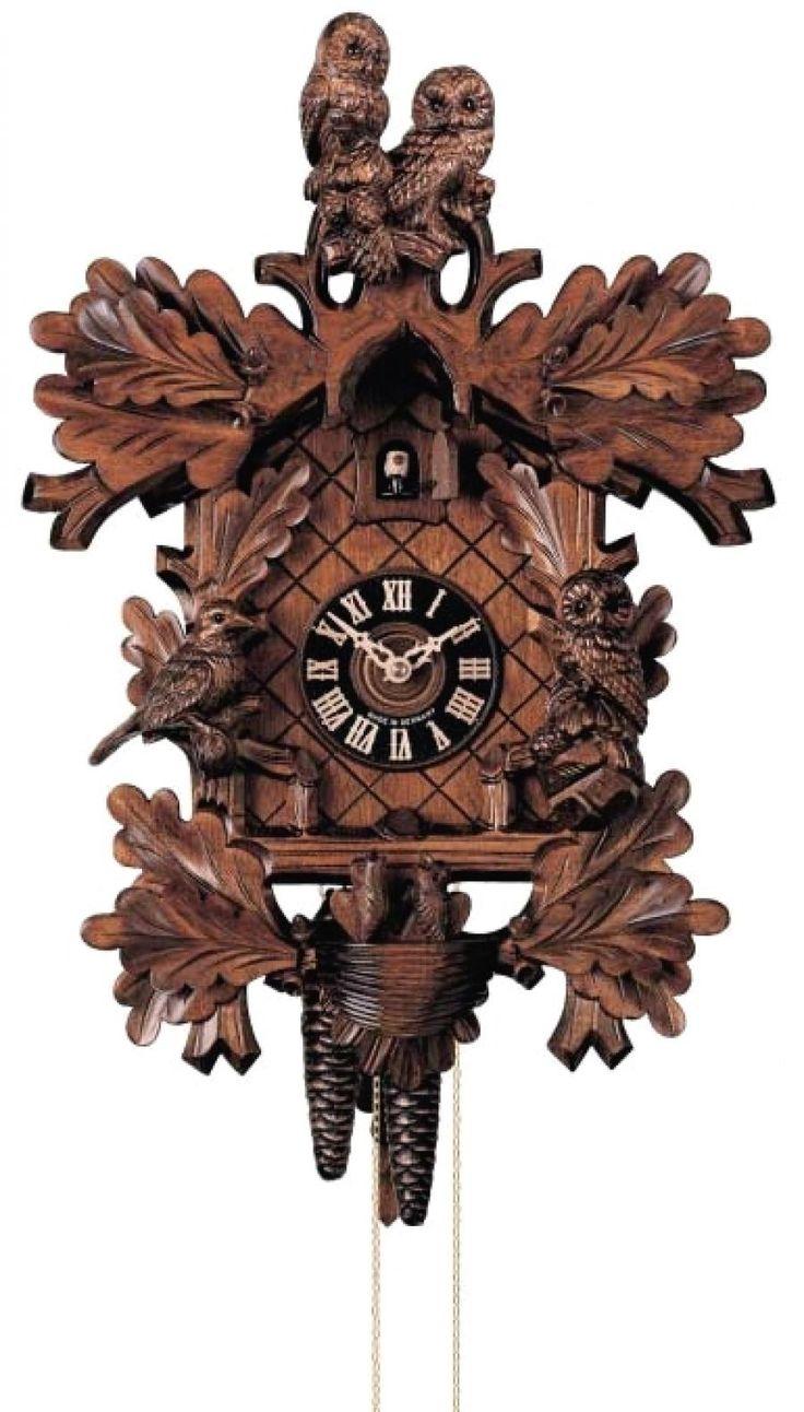 23in owls u0026 leaves u0026 nest german black forest cuckoo clock 8 day traditional