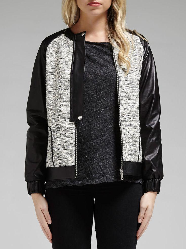 Rebecca Minkoff - Enza Mixed Tweed Jacket