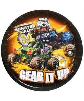 """PartyBell.com - Monster Jam 9"""" Dinner Plates (8)"""