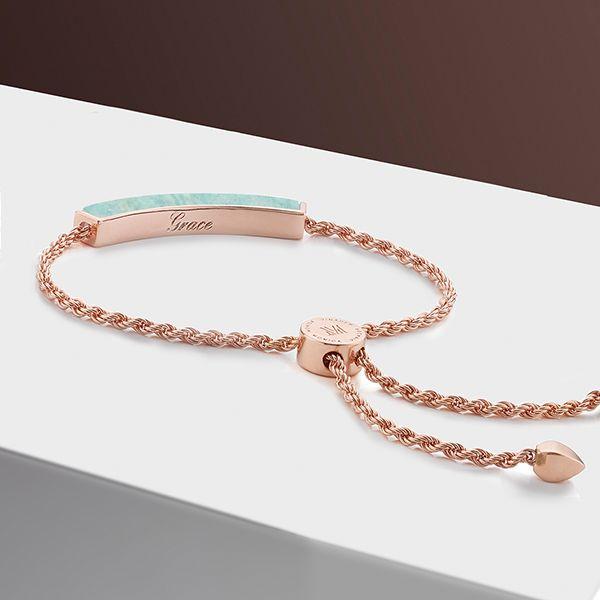 Rose Gold Linear Large Friendship Bracelet Monica Vinader SAMSYddXW
