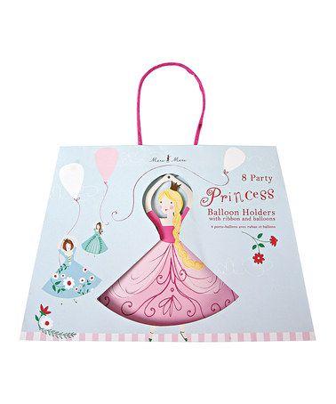 Look at this #zulilyfind! Blue & Pink I'm a Princess Balloon Holder Set by Meri Meri #zulilyfinds