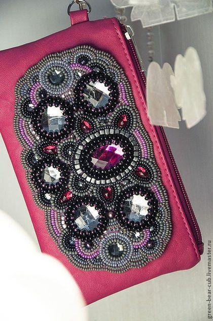 Женские сумки ручной работы. Ярмарка Мастеров - ручная работа. Купить Pink.. Handmade. Фуксия, розовый, стразы акриловые