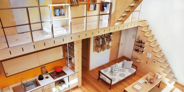 Una casa con soffitti che definiscono le funzioni Cose di