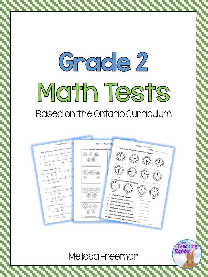 Use this Math Test Bundle for Grade 2 based on the Ontario Curriculum to make assessment time easier!  Includes 11 math tests with answers.