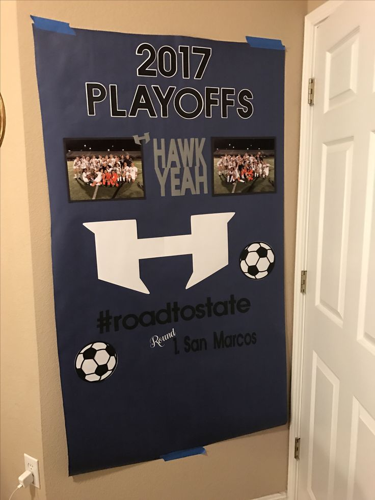 Soccer Locker Room Playoff Poster