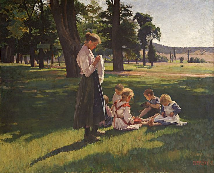 On the field by Teodor Zemplényi, 1880/1890. Slovak national gallery, CC BY