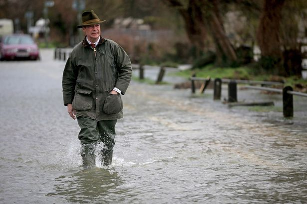 """Farage walks through a deluge of """"remain"""" tears the day after the Brexit vote..."""
