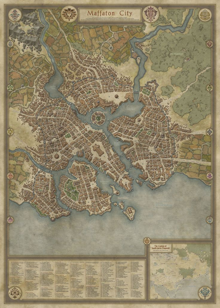 Map by Daelin on of the best City Maps