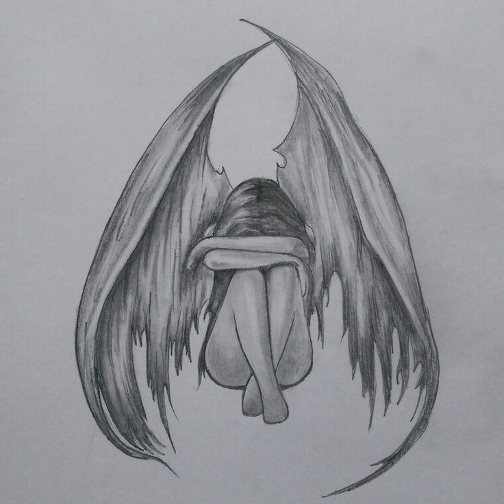 под грустный ангел картинки карандашом технологий