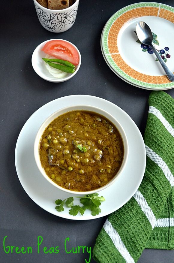 Green Peas Curry/Green peas Masala- Restaurant Style ~ Nalini'sKitchen