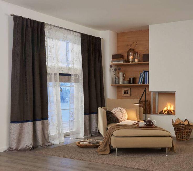 Wohnzimmer Gardine Braun 2 ❤ Vielfältige Plissees ❤ Bezaubernde  Flächenvorhänge ❤ Liebevolle Jalousien ❤ Tolle Gardinen