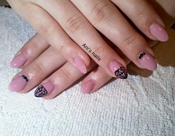 Simple diamant nails
