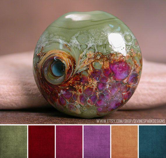 Art Bead Scene Blog: Art Bead Palette :: Divine Spark Designs. Determining color scheme.