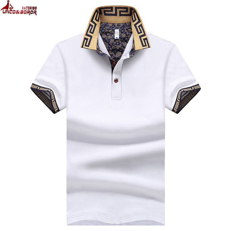 Unco & boror плюс размер m ~ 5xl мужская марка polo shirt для мужчин дизайнер поло мужчины с коротким рукавом рубашка майки golftennis одежда