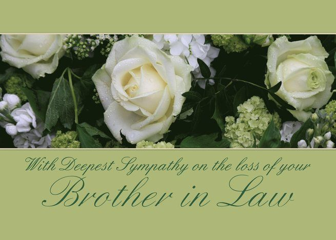 Sympathy On Loss Of Brother In Law White Rose Card Sympathy