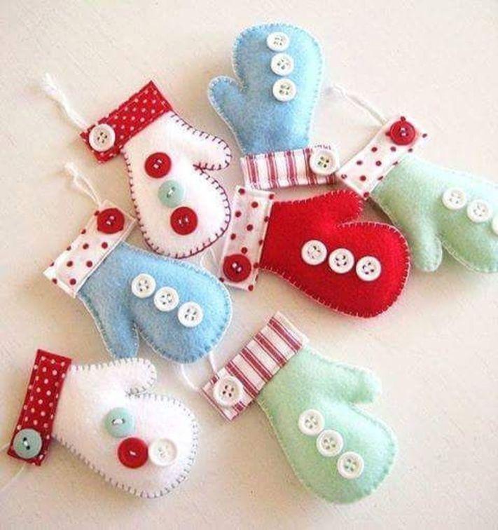 38 Original Felt Ornaments Decoration Ideas For Your Christmas Tree 01