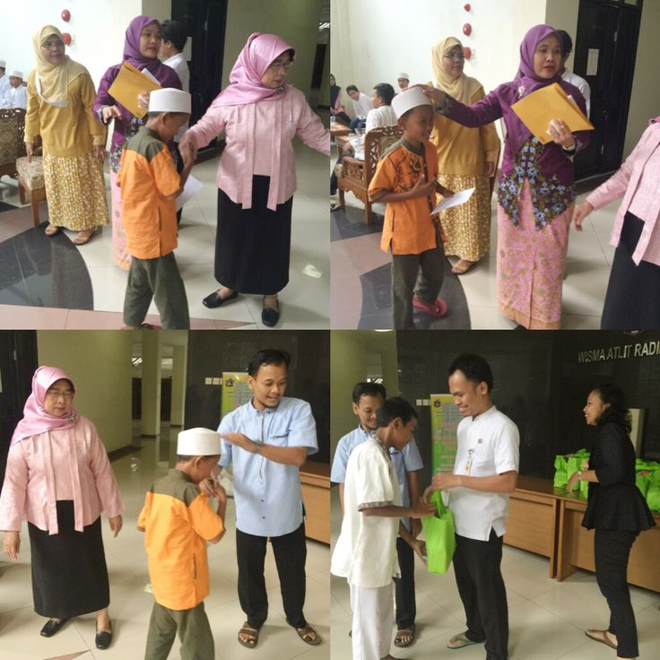 Jajaran Uppd Dursaw memberikan santunan kpd anak yatim.