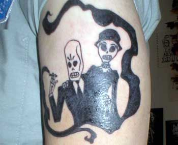 das grim-fandango-tattoo  ein pacman-tattoo  zelda geht auch bei ...