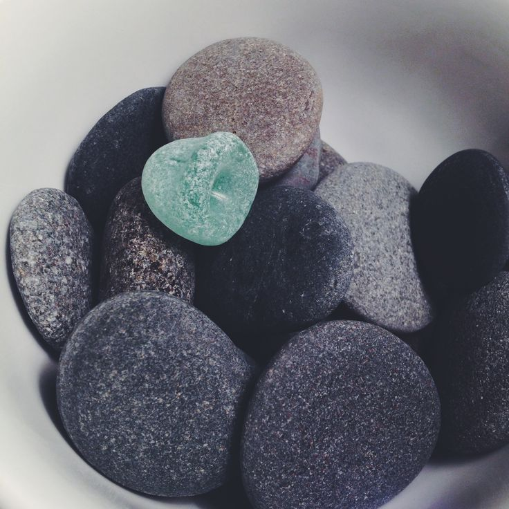 Gifts from the sea.  Stones and sea glass.
