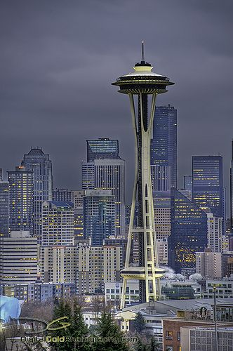 Space Needle - Seattle, Washington  I was there in the 60's when it opened! I was MUCH younger then...HaHa!