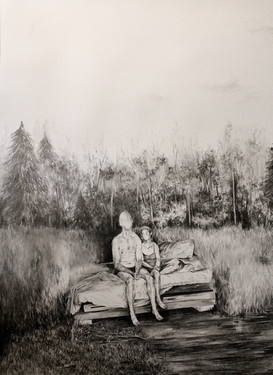 "Saatchi Art Artist Magdalena Lamri; Drawing, ""Frontier 5"" #art"
