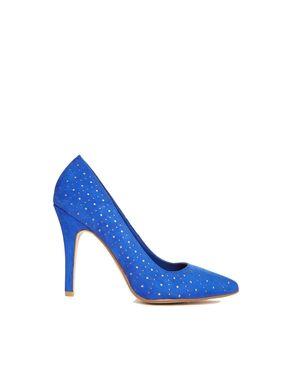 New Look Set Blue Court Shoes
