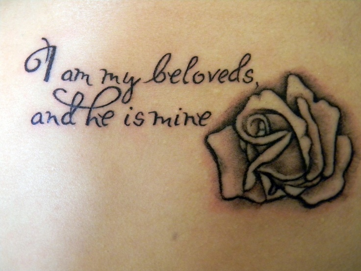 i am my beloveds, and he is mine. white rose..my second tattoo