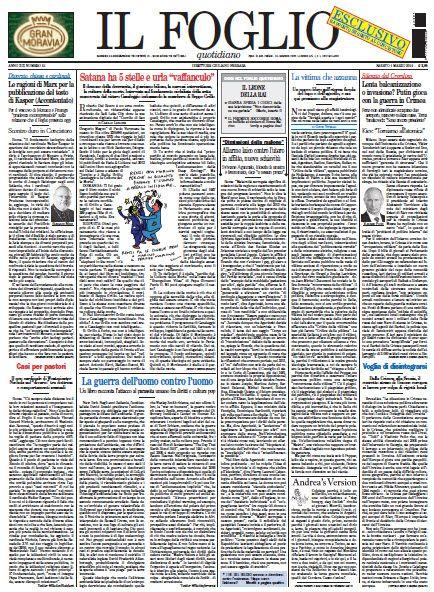 Il Foglio di Giuliano Ferrara - 01.03.2014  Italian   True PDF   20 Pages   11 MB