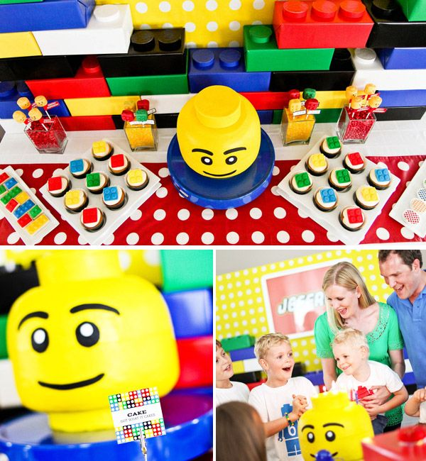 The most Lego Party Ideas I've ever seen in one place! Scores of ideas and demonstrations to put your own Lego Party Theme together. Your kids will love you for it!