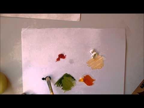 Cours de peinture : Faire toutes les couleurs avec seulement 3 couleurs - YouTube