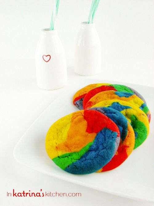 Rainbow Chocolate Chip Cookie Recipe Tie Dye Style