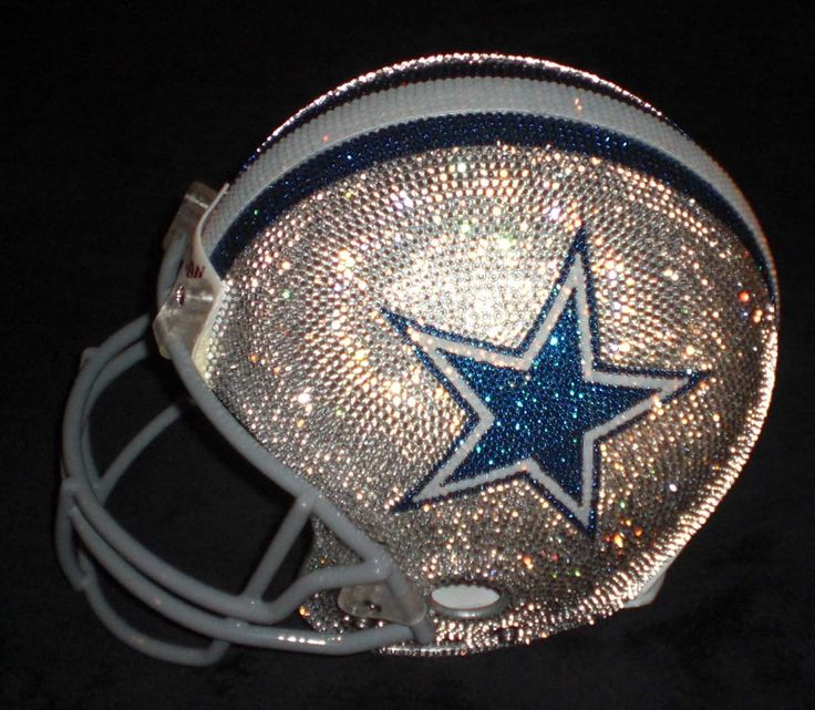 Swarovski studded NFL helmets .... Dallas Cowboys...... I might like football if all the helmets looked like this.