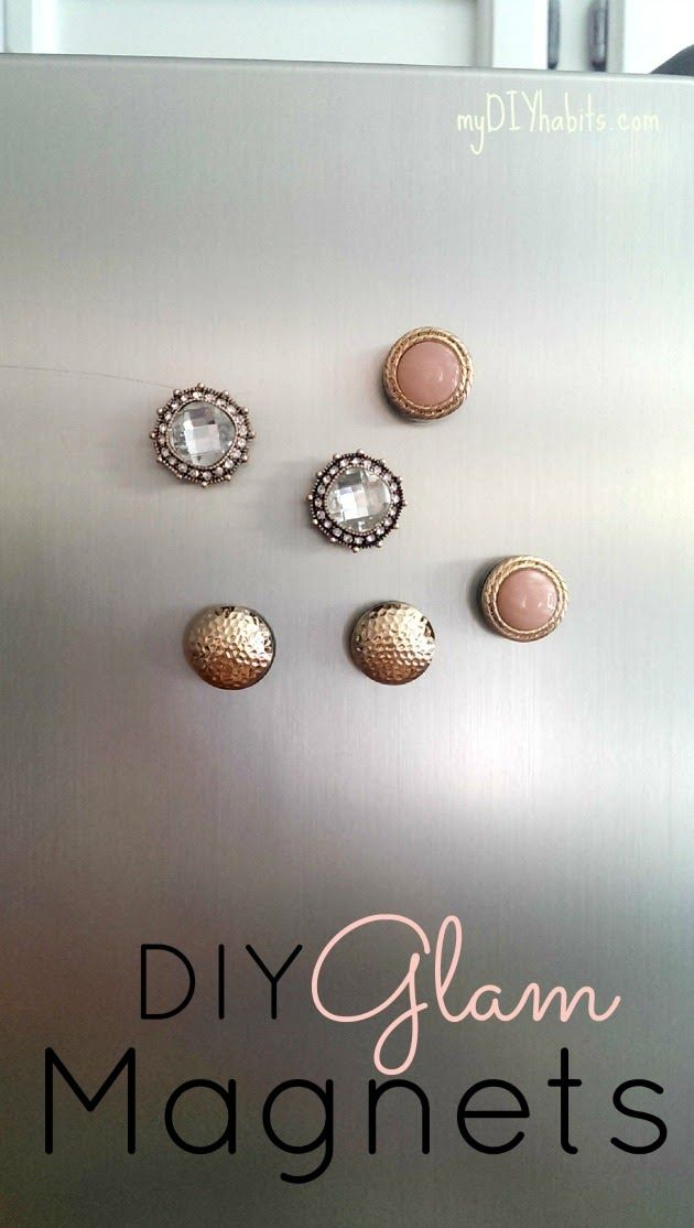 DIY Glam Fridge Magnets