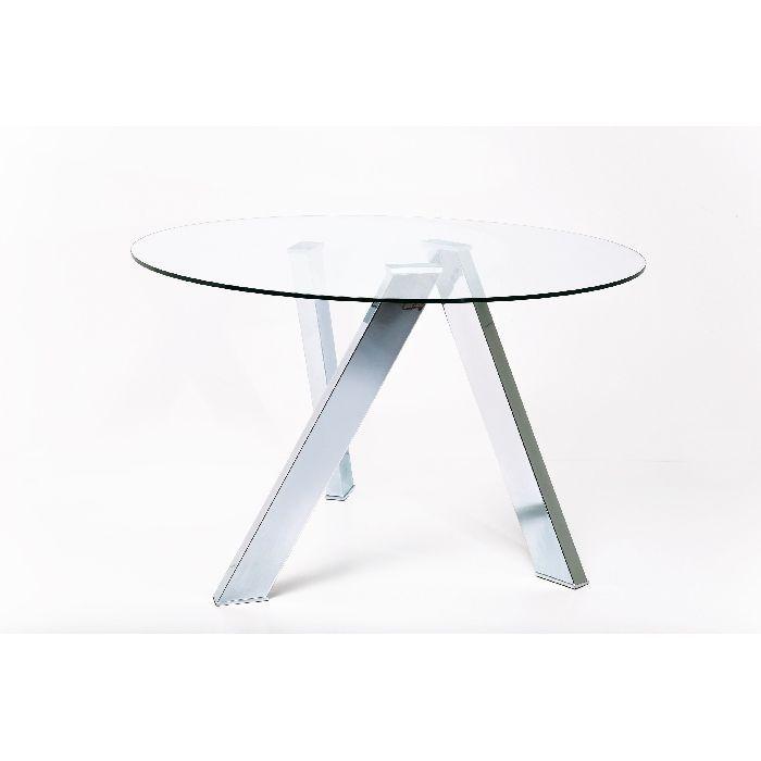 Τραπέζι Mikado Στρόγγυλο Κομψό τραπέζι φαγητού, με εντυπωσιακή βάση. Ιδανικό για κάθε χώρο.