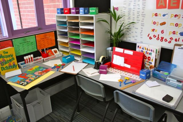 Writers workshop area and many more pictures and ideas under the tab early childhood at the top - Writing corner ideas ...