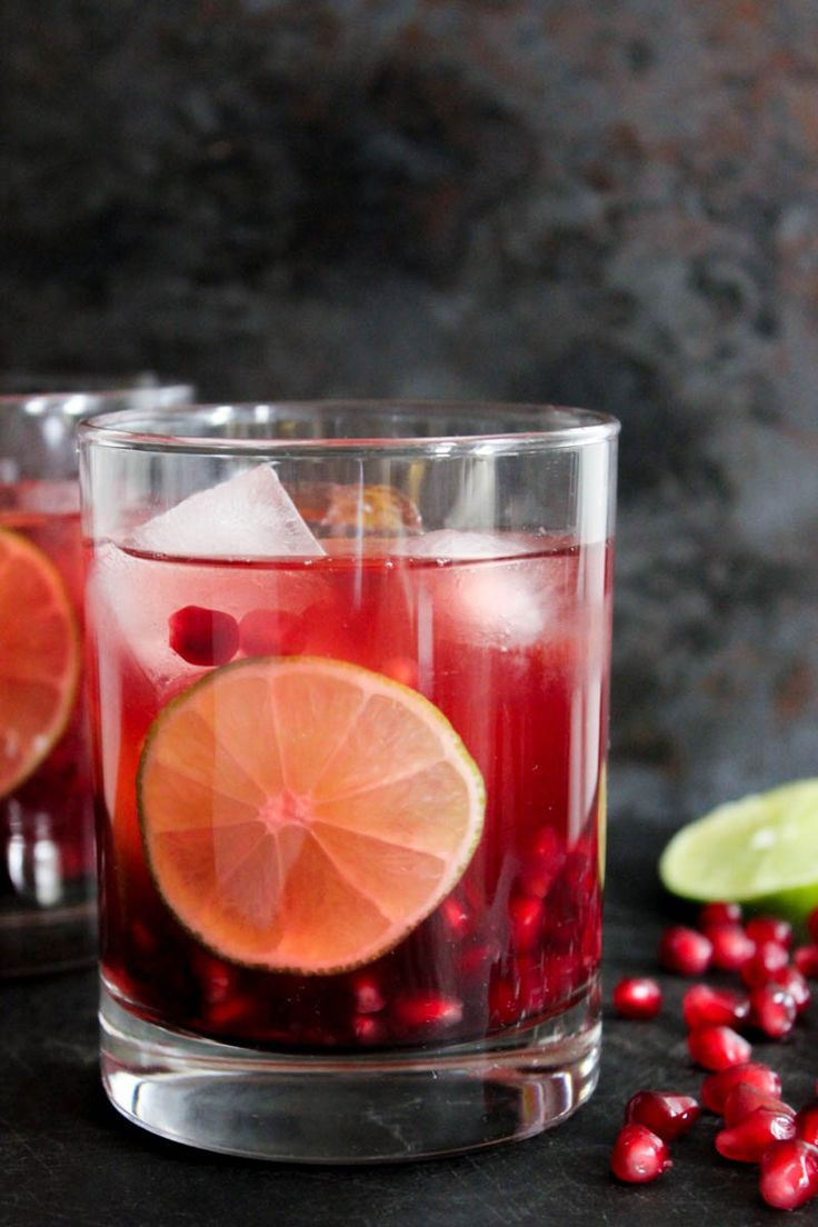 Pomegranate Vodka Gimlet. This bright, festive cocktail comes with a hilarious how-to video.