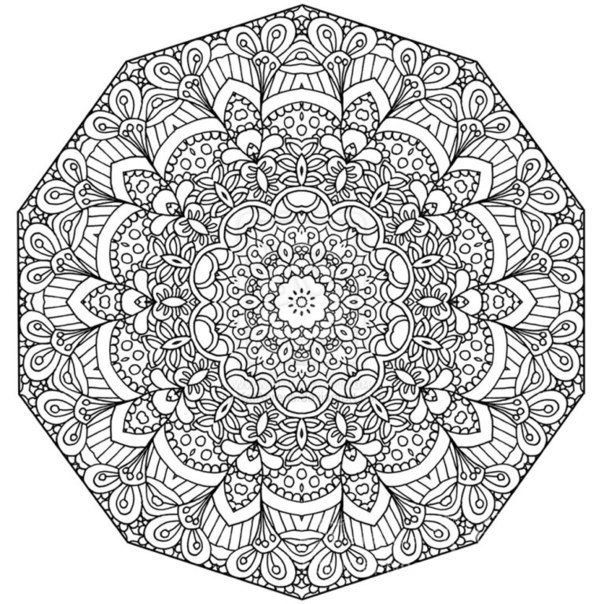 19 best Mandala Coloring Pages images on Pinterest Coloring