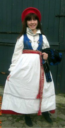 Ingelstads kvinnodräkt. Skåne Folkdräkt traditional dress from Ingelsta in Skåne