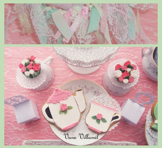 Vintage shabby chic party #shabbychic #party