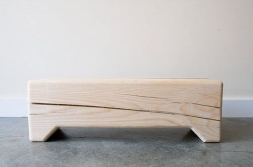 panca moderna in legno certificato (certificazione FSC) TRUNK Kalon Studio