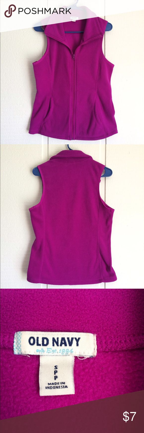 Old Navy Fleece Vest This bright purple vest is a super fun accessory! Adds a layer of warmth and a pop of color. Great condition! Old Navy Jackets & Coats Vests