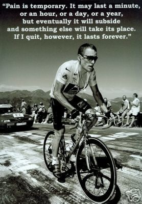 Lance Armstrong - I have no care what he did, or didn't do to win, the things that he has done for cancer research, survivors and patients outside of his sport FAR outweigh what he may or may not have within his sport!!..LiveSTRONG... http://papasteves.com
