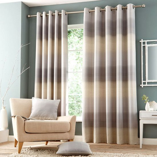 Grey Waves Eyelet Curtain Collection | Dunelm