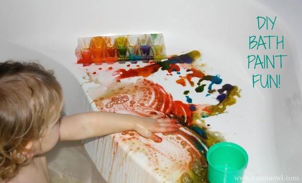 DIY Kid-Friendly Bath Paints